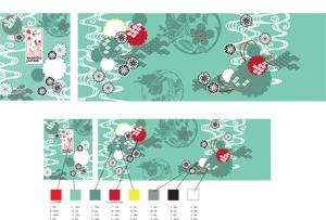 フランス展示会ブース壁紙デザイン例